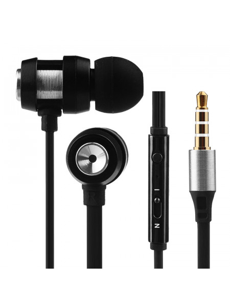 Volkano Alloy series metal earphone - Gold