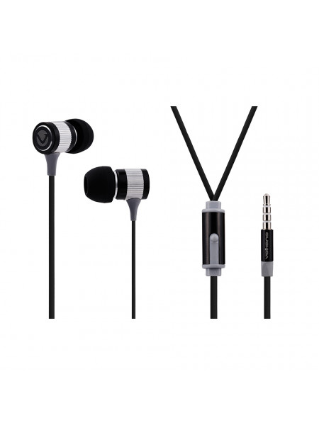 Volkano Earphones with Mic -METALLIC SERIES