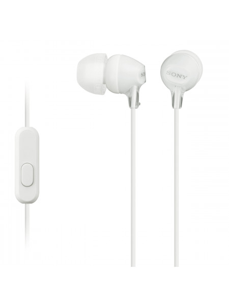 Sony In-Ear Headphones with Mic for iPhone- Android - Blackberry MDR-EX15AP