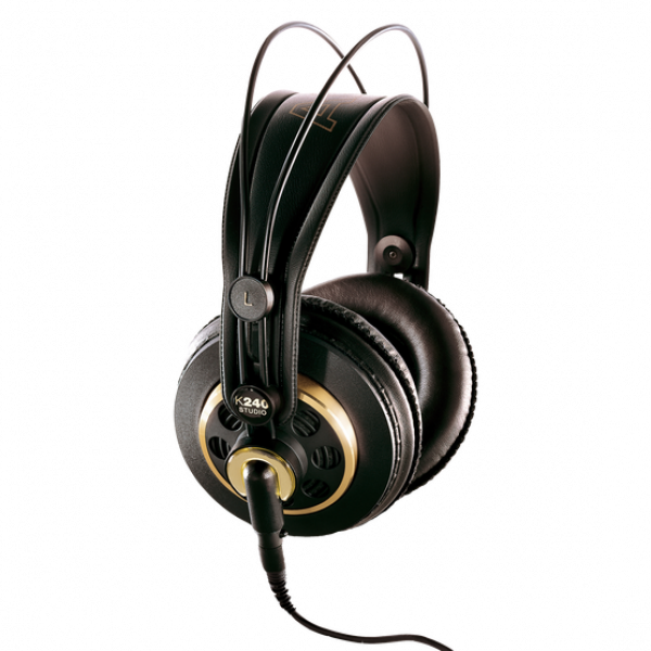 AKG K240 Semi-open, Circumaural Studio Headphone with classic gold/black trim