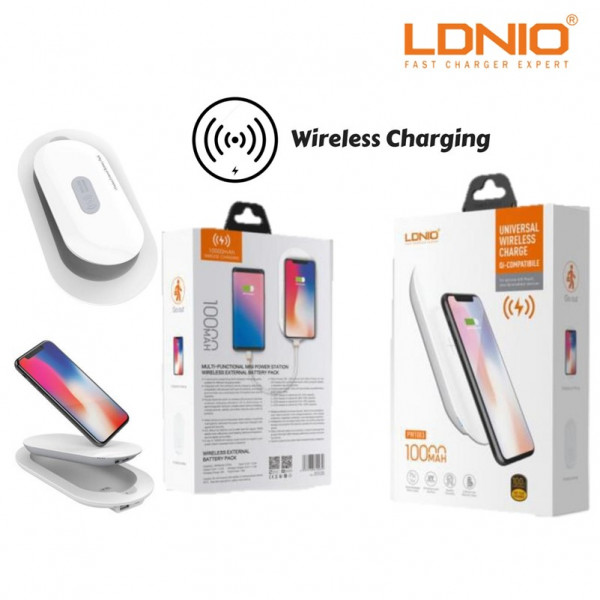 LDNIO QI Wireless Charger Combo with 5000MAH powerbank