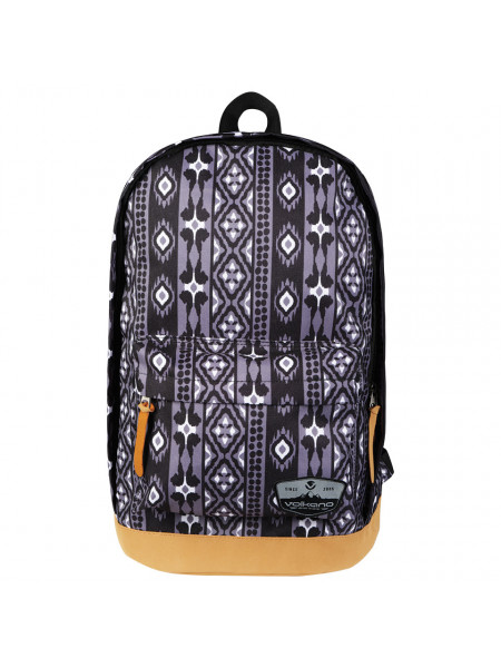 Volkano Suede Series Backpack Ethnic (Dark Grey)
