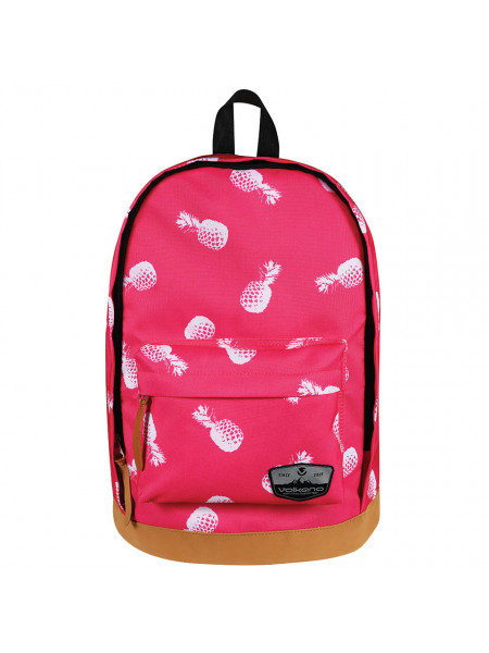 Volkano Suede Series Backpack Pineapples (Pink)