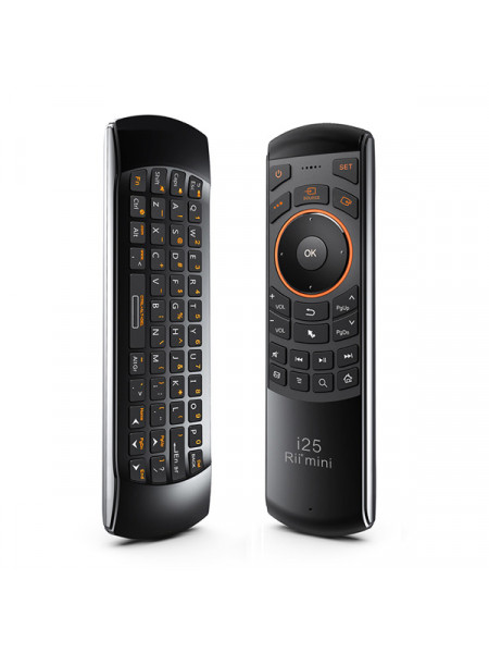 RII WIRELESS AIR MOUSE CONTROL DUAL SIDED WITH QWERTY KEYBOARD