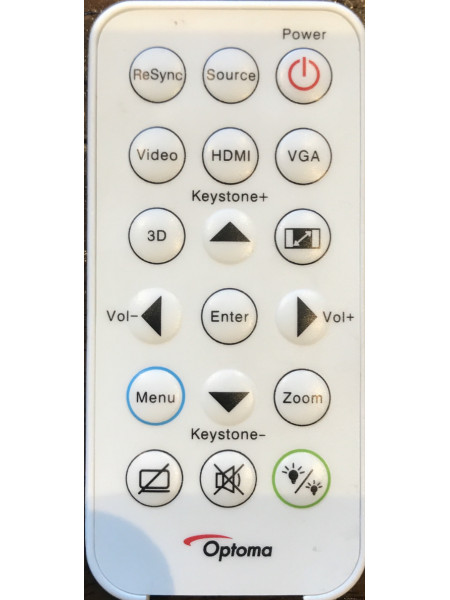 Optoma Credit Card Full Function Remote Control