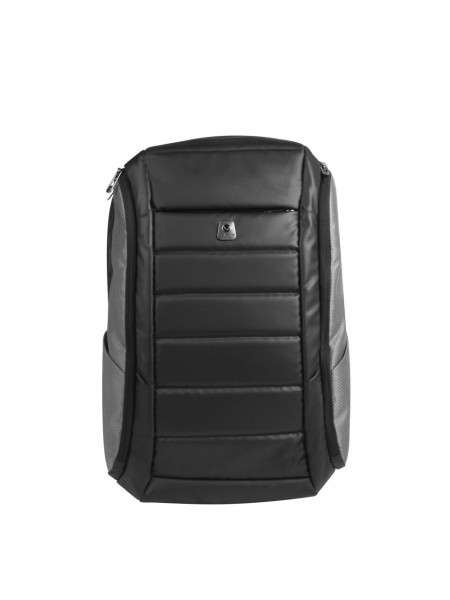 Volkano Bomber Laptop Backpack - Black/Grey