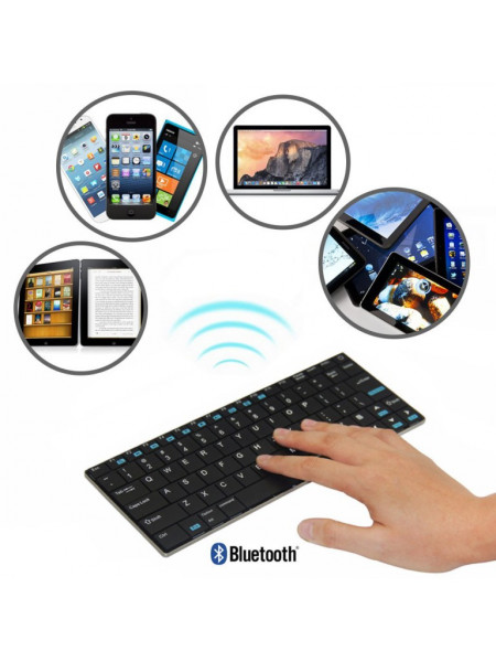 RII WIRELESS QWERTY SLIM MINI BLUETOOTH FULL KEYBOARD BLACK