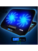 Lifestyle Gaming Laptop cooling stand Dual fan with LED Display