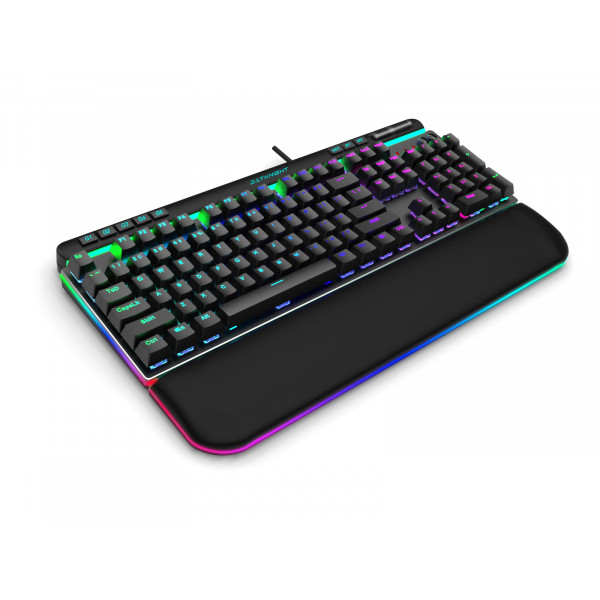 Batknight Gaming Mechanical RGB gaming keyboard with smart magnetic RGB armrest