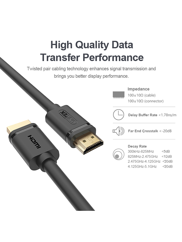 Unitek HDMI cable male to male V1.4 Various lengths