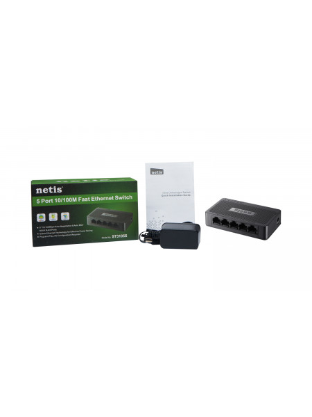 Netis 5 Port 10/100 Fast Ethernet Switch