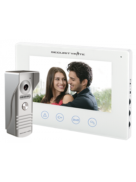 "SECURITYMATE COLOR VIDEO DOOR PHONE INTERCOM WITH 7"" SCREEN"