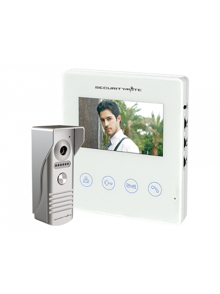 "SECURITYMATE COLOR VIDEO DOOR PHONE INTERCOM WITH 4.3"" SCREEN"
