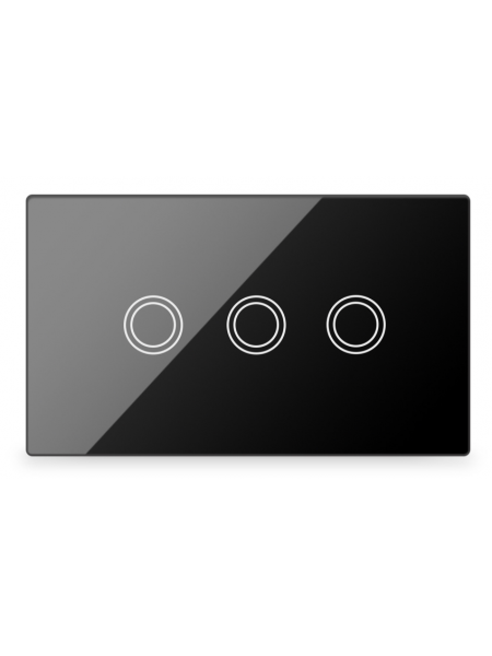 Life Smart - Smart Light switch 3 way Black