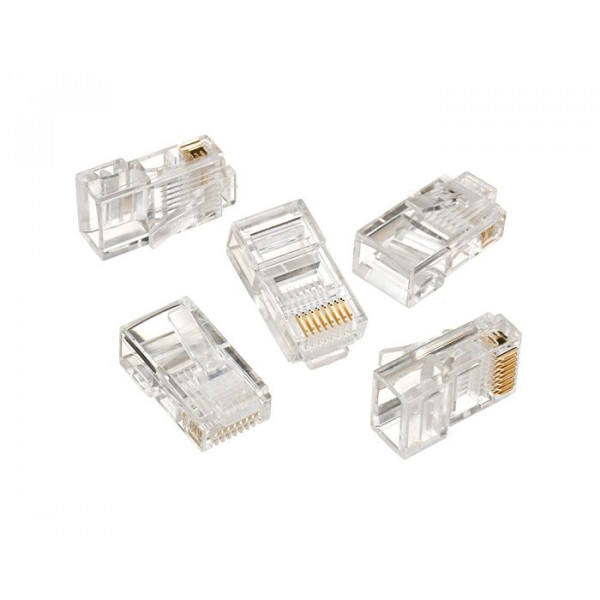 RJ45 CAT5e crimp type plug end