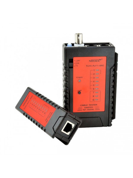 RJ45 LED type cable tester with remote function