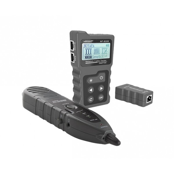 Ethernet RJ45 Cable tester kit with scan and probe