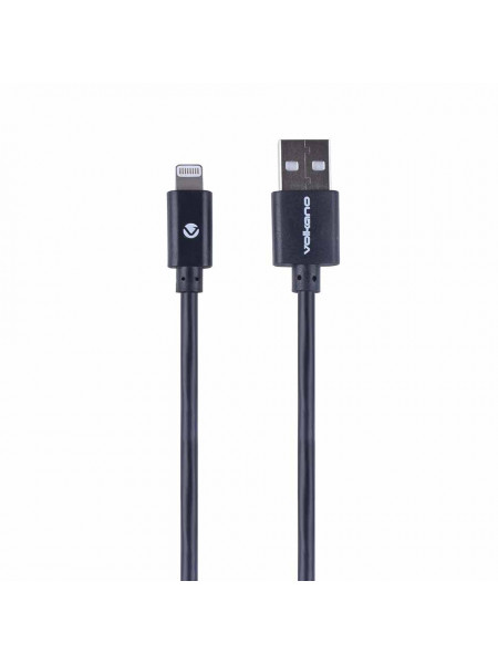Volkano Strike series 1.2 meter MFI Lightning charge/ data cable - silver