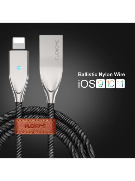 High Quality Metal Charger cable for iphone 1.2M