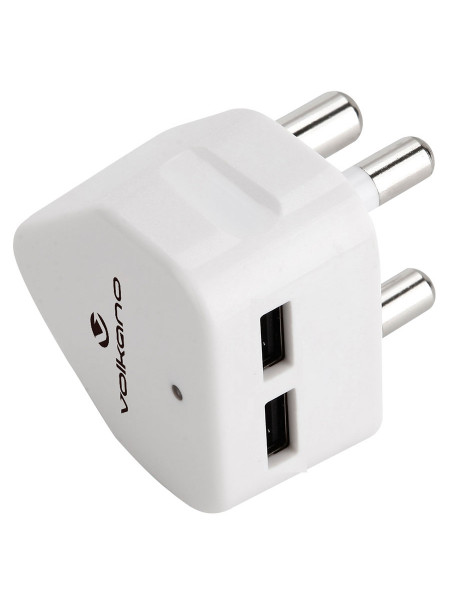 Volkano Current series Double USB wall charger with 3 pin plug