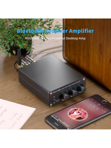 Fosi Audio 2 Channel mini Stereo Hifi Amplifer with Bluetooth 2 x 100W RMS