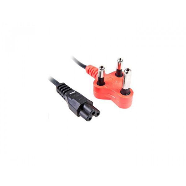 Clover power lead with red shaved pin plug 1.8M