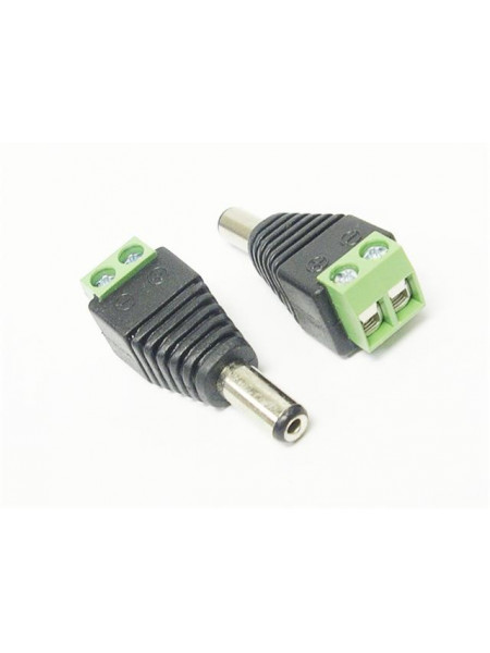 In line DC plug male 2.1mm