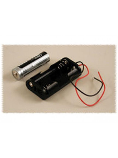 Battery Holder for 2xAA Batteries with wire leads
