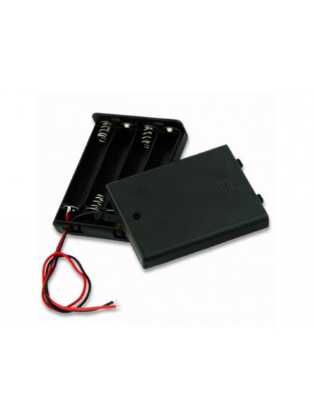 Battery holder for 4xAA batteries