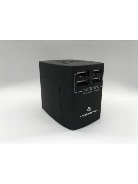 Worldwide series Travel Adaptor with 4 USB charge ports