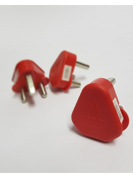 Plug top 3 pin Red Dedicated 16A