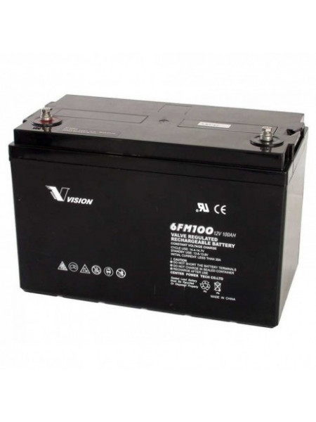 Vision valve regulated 12V 100AH UPS battery